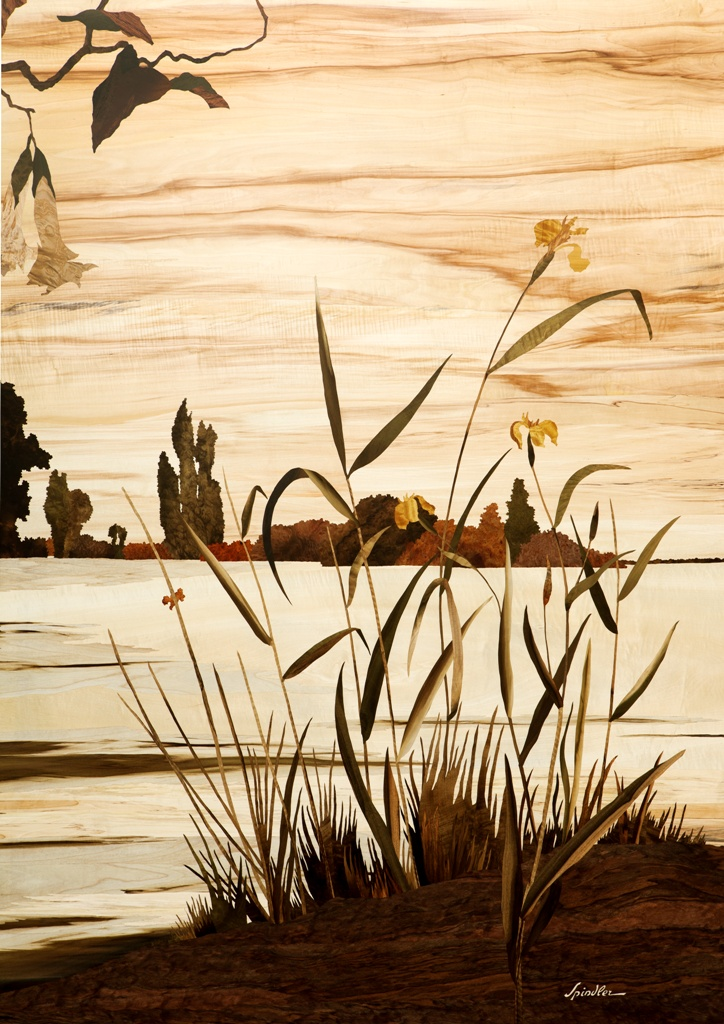 les iris sauvages marqueterie d 39 art spindler. Black Bedroom Furniture Sets. Home Design Ideas
